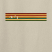 Edify Retro Stripe 70s Graphic Sand Tee Shirt