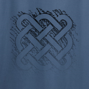 Celtic Square Knot Graphic Indigo Blue Tee Shirt