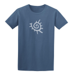 Buy Native American Sun Symbol Graphic Indigo Blue Tee Shirt