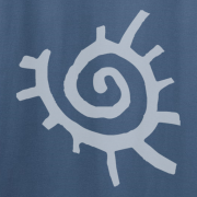 Native American Sun Symbol Graphic Indigo Blue Tee Shirt