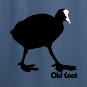 Old Coot Graphic Indigo Blue Tee Shirt