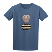 Baa Humbug Novelty Xmas Graphic Indigo Blue T Shirt