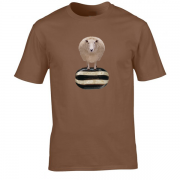 Baa Humbug Novelty Xmas Graphic Brown T Shirt