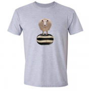 Baa Humbug Novelty Xmas Graphic Grey T Shirt