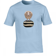 Baa Humbug Novelty Xmas Graphic Light Blue T Shirt