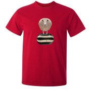 Baa Humbug Novelty Xmas Graphic Red T Shirt