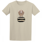 Baa Humbug Novelty Xmas Graphic Sand T Shirt