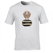 Baa Humbug Novelty Xmas Graphic White T Shirt