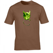 Evil Devil Sprout Novelty Xmas Gift Graphic T Shirt Brown