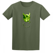 Evil Devil Sprout Novelty Xmas Gift Graphic T Shirt Green