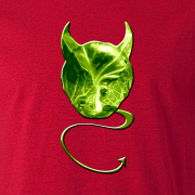 Evil Devil Sprout Novelty Xmas Gift Graphic T Shirt red