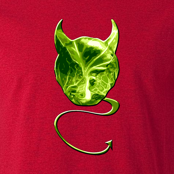 Buy Evil Devil Sprout Novelty Xmas Gift Graphic T Shirt red