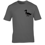 Buy Ayup Me Duck Silhouette Cartoon Graphic Charcoal Tee Shirt