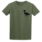 Buy Ayup Me Duck Silhouette Cartoon Graphic Green Tee Shirt