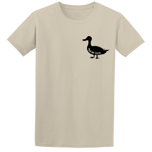 Buy Ayup Me Duck Silhouette Cartoon Graphic Sand Tee Shirt
