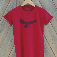 Buy Buzzard Bird Silhouette Graphic Red Tee Shirt