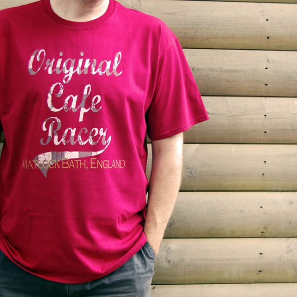 Buy Original Classic Cafe Racer Matlock Graphic Red Tee Shirt