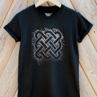 Buy Celtic Square Tribal Graphic Black Tee Shirt
