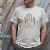 Buy Native American Hand Symbol Graphic Sand Tee Shirt
