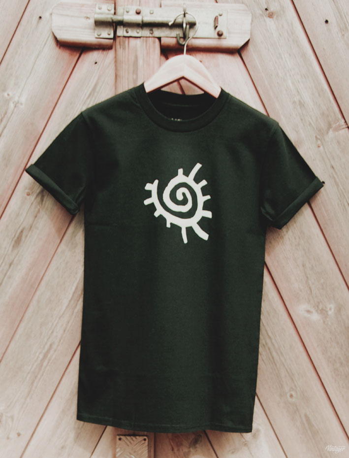 Buy Native American Sun Symbol Graphic Black Tee Shirt