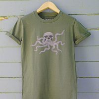 Buy Octopuss Cthulhu Skull Graphic Green Tee Shirt