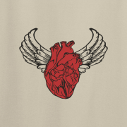 Sacred Heart Angel Wings Tattoo Sand Tee Shirt