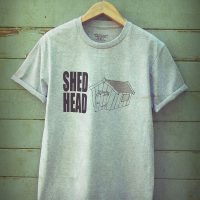 Buy Shed Head Man Cave Graphic Sport Grey Tee Shirt
