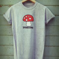 Buy Sporesome Mushroom Graphic Cart Sport Grey Tee Shirt