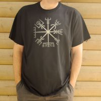 Buy Vegvisir Viking Compass Graphic Black Tee Shirt