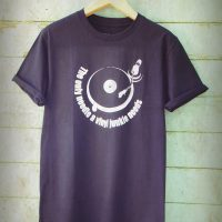 Buy Vinyl Junkie Turntable Graphic Black Tee Shirt