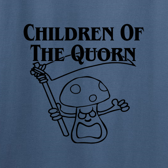 Buy Children of the Quorn Corn Vegan Vegetarian Indigo Blue Graphic Tee Shirt