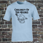 Buy Children of the Quorn Corn Vegan Vegetarian Light Blue Graphic Tee Shirt