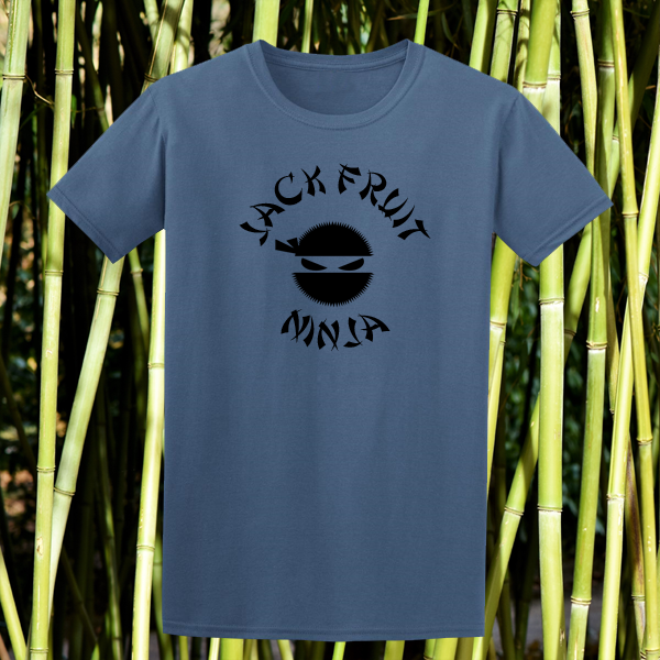 Buy Jackfruit Ninja Vegan Vegetarian Ethical Street Wear Indigo Blue Graphic Tee Shirt