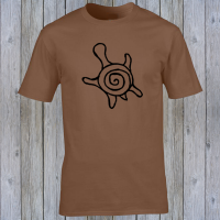 Buy Sea Turtle Honu Tiki Surfer Graphic Brown Tee Shirt