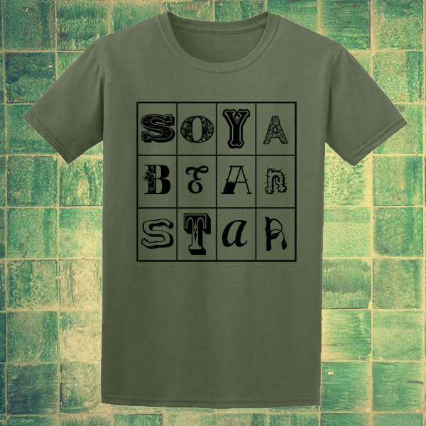 Buy Soya Bean Star Vegetarian Eco Plant Green Graphic T Shirt