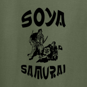 Soya Samurai Vegan Vegetarian Oriental Japan Weeb Green Graphic T Shirt