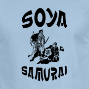 Soya Samurai Vegan Vegetarian Oriental Japan Weeb Light Blue Graphic T Shirt