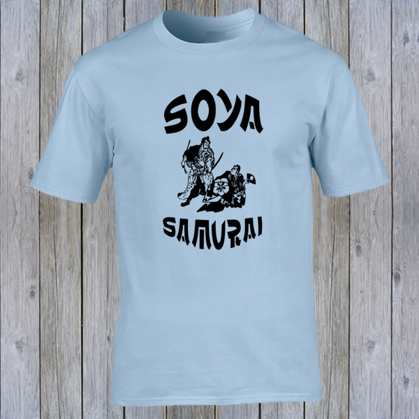 Buy Soya Samurai Vegan Vegetarian Oriental Japan Weeb Light Blue Graphic T Shirt