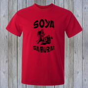 Soya Samurai Vegan Vegetarian Oriental Japan Weeb Red Graphic T Shirt