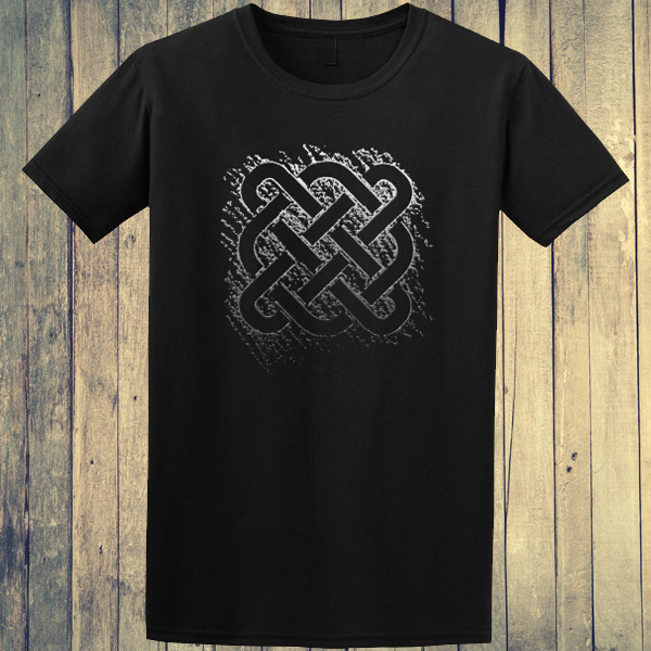 Buy Celtic Square Tribal tattoo Graphic Black Tee Shirt