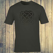 Celtic Square Tribal tattoo Graphic Charcoal Tee Shirt