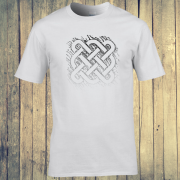 Celtic Square Tribal tattoo Graphic White Tee Shirt