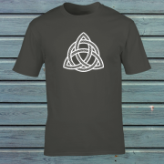 Celtic Knot Triangle Tribal Tattoo Graphic Charcoal Tee Shirt