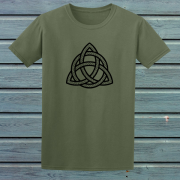 Celtic Knot Triangle Tribal Tattoo Graphic Green Tee Shirt