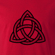 Celtic Knot Triangle Tribal Tattoo Graphic Red Tee Shirt