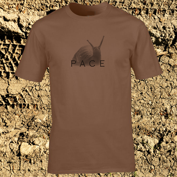 Buy Snail Pace Funny Animal Sports Graphic Chestnut Brown Tee Shirt