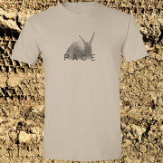 Snail Pace Funny Animal Sports Graphic Sand Tee Shirt