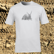 Snail Pace Funny Animal Sports Graphic White Tee Shirt