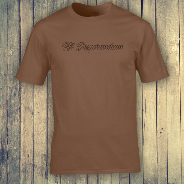 Buy Nil Desperandum No Despair No Worries Alternative Street Wear Chestnut Brown Graphic Tee Shirt