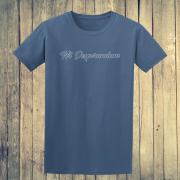 Nil Desperandum No Despair No Worries Alternative Street Wear Indigo Blue Graphic Tee Shirt